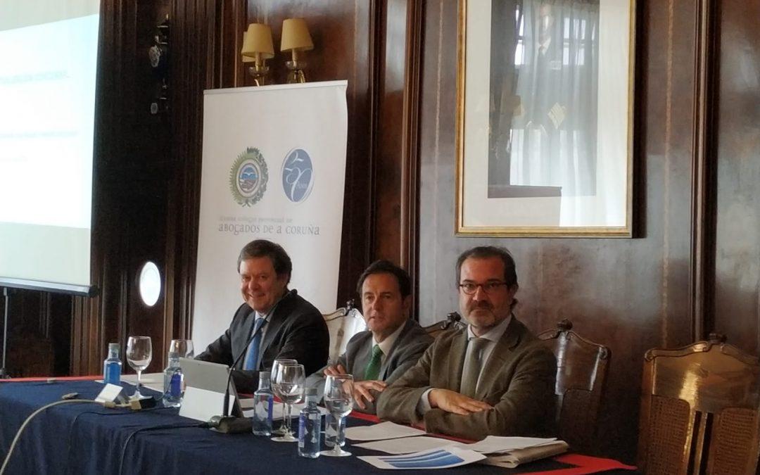 Antonio Zamorano, ponente en el II Encuentro de Actualización Concursal, celebrado en A Coruña