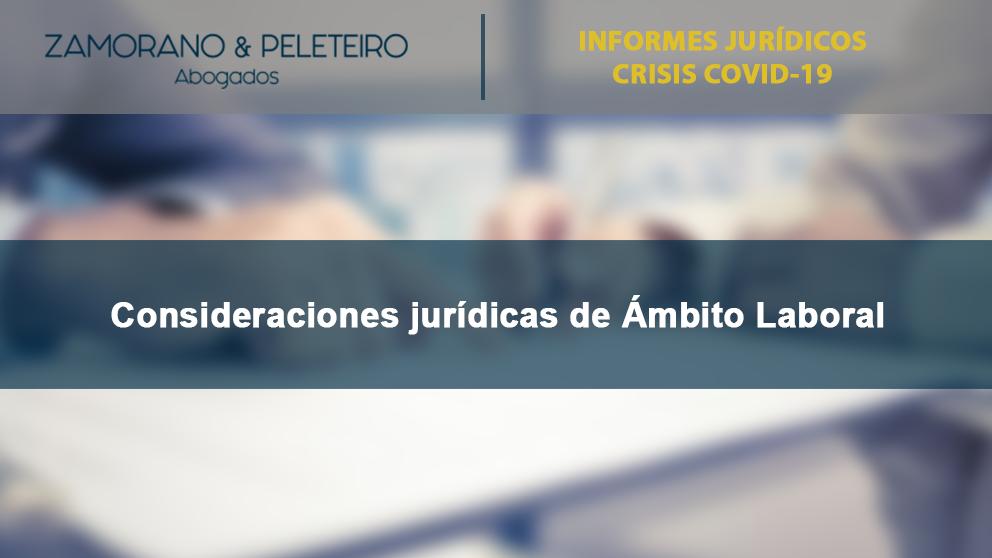 COVID-19 Consideraciones Jurídicas en el Ámbito Laboral