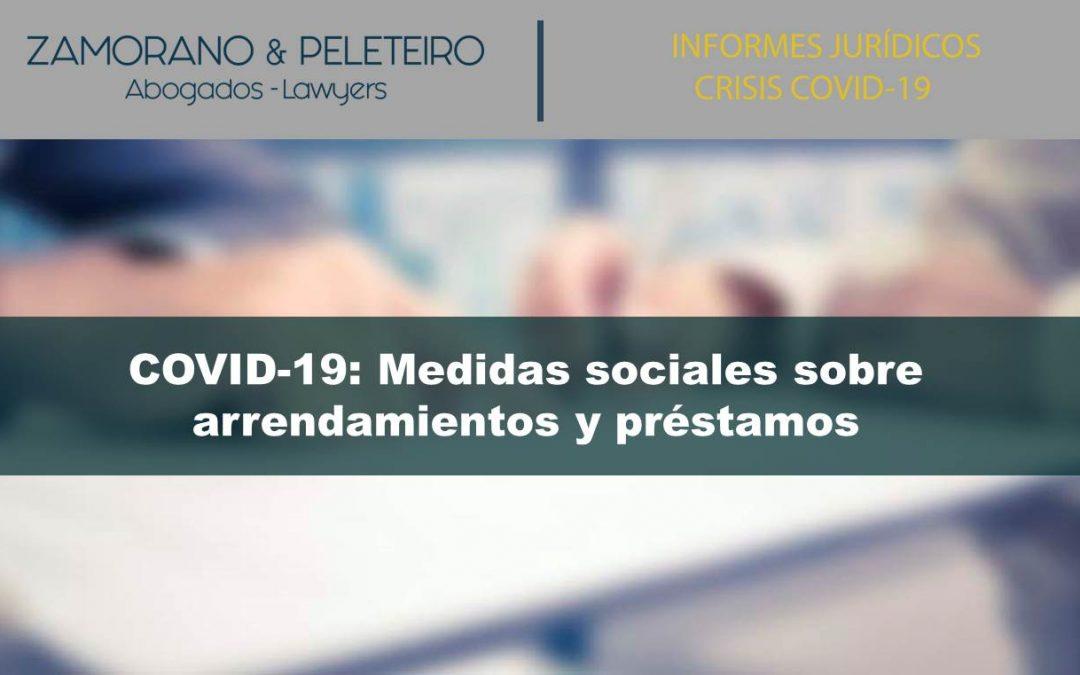 COVID-19: MEDIDAS SOCIALES RESPECTO DE ARRENDAMIENTOS URBANOS Y PRÉSTAMOS