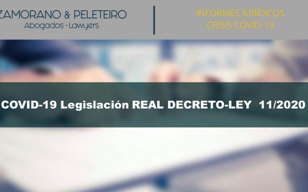 COVID-19 Legislación RDL  11/2020